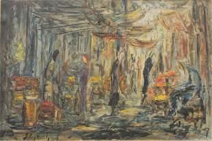 Zvi Raphaeli (Israeli 1924 - 2005), Figural Abstraction