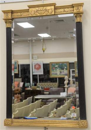 Federal Style Mirror with Black Columns, height 41