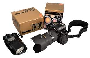 Nikon F5 Camera, having 28-70 Nikkor Lense and Bag.