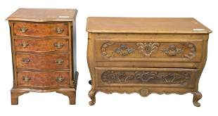 Two Piece Lot, to include a country French bombe chest