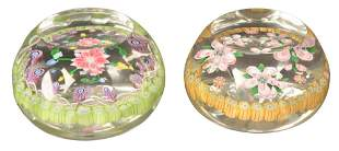 Two Perthshire Millefiori Glass Paperweights, both