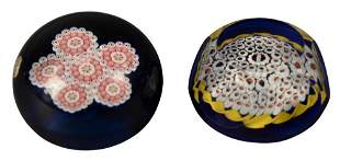 Two Saint Louis Millefiori Glass Paperweights, to