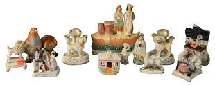 Group of Small Porcelain Figures, to include four