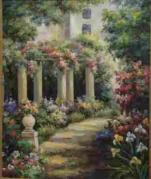 French School (20th Century), Garden Scene with