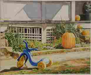 Reynard Milici (American, b.1942), Tricycle in Front