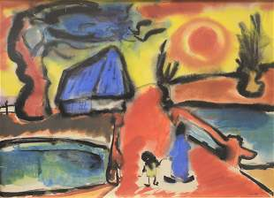 Wilhelm Woller (German/American, 1907-1954), abstract