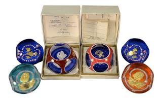 Six Saint Louis Glass Paperweights, to include two