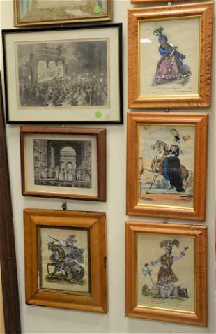 """Fourteen Piece Lot, to include Harper's Weekly """"An Open"""