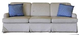 Edward Farrell Custom Sofa, height 35 inches, length 95