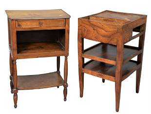 Two Piece Lot, to include a mahogany stand having one