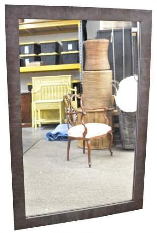 Large Contemporary Rectangular Wall Mirror, having wood
