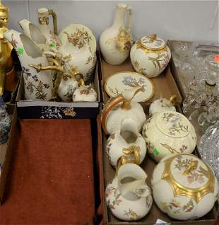 Sixteen Pieces of Royal Worcester Porcelain, having