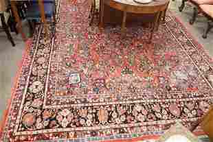 "Sarouk Oriental Carpet, one corner with fading, 10' 6"""
