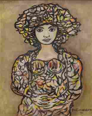 In The Manner of Rene Portocarrero (Cuban, 1912 - 1986)