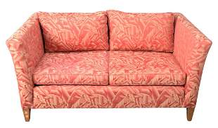 Pair of Ehrlich's Loveseats, in matching Brunschwig and