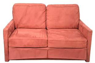 Upholstered Two Cushion Sleeper Sofa, height 38 inches,