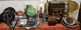 A Large Table Lot of Decorative Items, to include two
