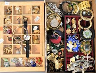 Two Box Lots of Costume Jewelry