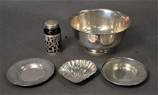 Five Piece Silver Lot, to include Paul Revere Reproduct