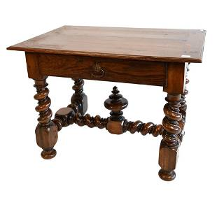 Jacobean Style Center Table, having one drawer, (made