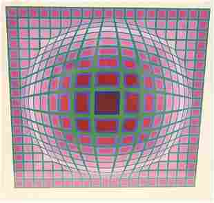 Victor Vasarely (Hungarian, 1906 - 1997), Titan A, from
