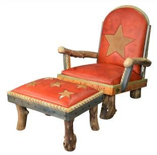 Sticks Object Art Furniture Armchair and Matching