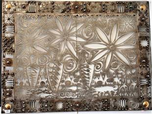Chris Seeman (American, 20th Century), laser cut metal