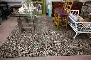 "Leopard Print Custom Carpet, 9' 5"" x 14'."