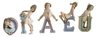 Five Piece Lot of Porcelain Lladro Figures, to include