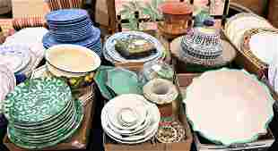 Six Tray Lots of Glazed Pottery and Ceramic Items, to