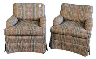 Pair Milan Lounge Chairs by Fairfield Chair Company, in