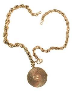Two 14 Karat Gold Rope Twist Bracelets, one with