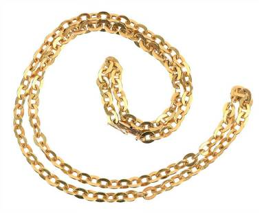 14 Karat Gold Chain, marked on the clasp, total length
