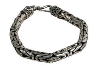 John Hardy Sterling Silver Woven Bracelet, length 7 1/2