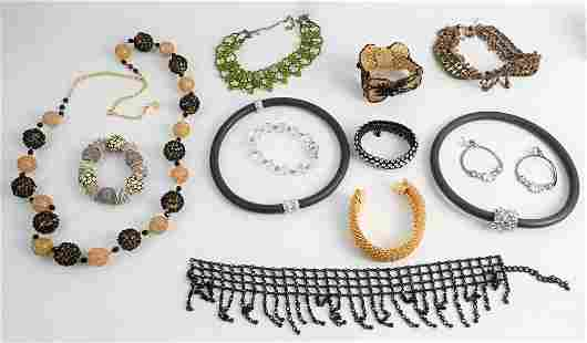 Group of Costume Jewelry, to include a Ciner bracelet,