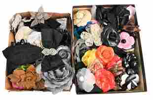 Lot of Flower Pins and Hair Accessories, to include