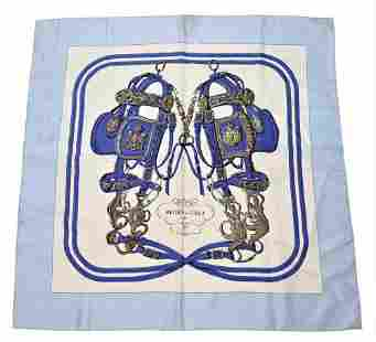 "Hermes Silk Scarf, titled ""Brides de Gala"", made for"