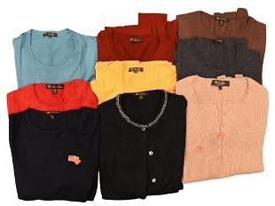 Nine Loro Piana Sweaters, to include cashmere, cashmere
