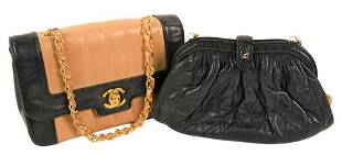 Two Vintage Chanel Purses, to include tan quilted