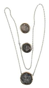 Three Piece Lot, to include pendant and pair earrings,