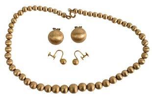 Set of Matching Jewelry, to include 14 karat yellow