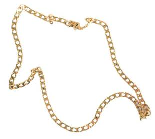 14 Karat Yellow Gold Chain Link Necklace, 18 inches,
