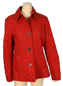 Burberry Red Diamond Quilted Short Jacket, having