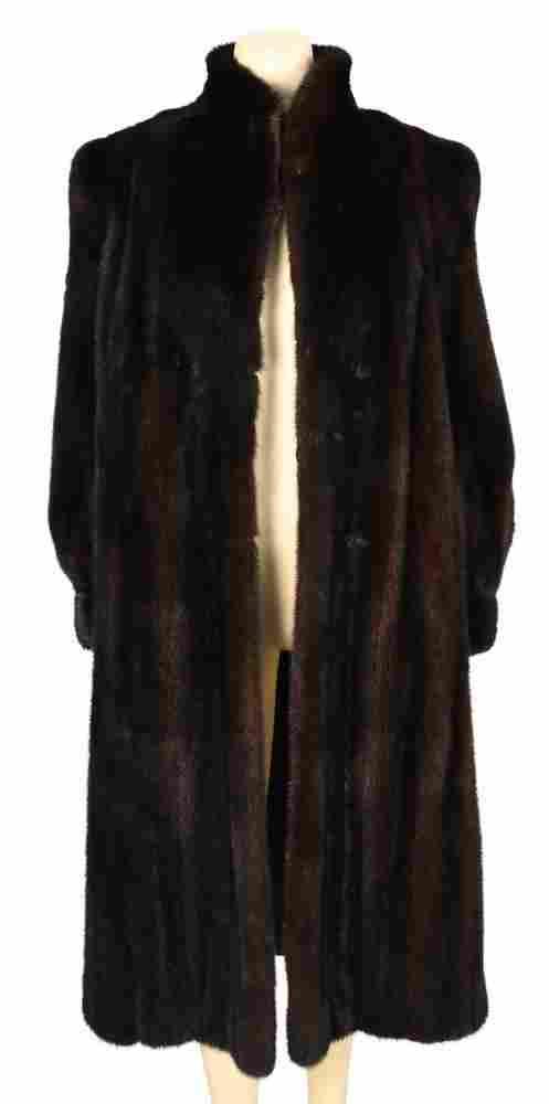 Brown Mink Full Length Coat, B. Smith and Sons, NY,