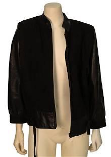 Vintage Celine Brown Leather/Suede Jacket, having stand