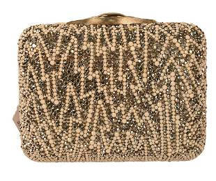 Judith Leiber Jeweled Clutch Purse, having silver and