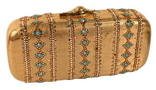 Judith Leiber Clutch Purse, mounted with jewels.