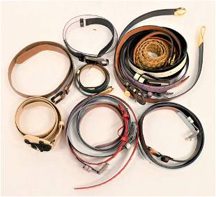 Lot of Designer Belts, to include St. John, OGGI,