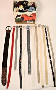 Large Lot of Ladies Belts, more than 40 pieces, to