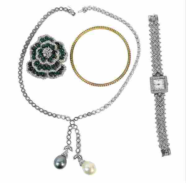 Three Piece Group of Costume Jewelry, to include M.C.J.